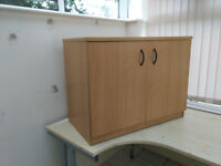 2 Cupboard units for office or home with 1 shelf as shown