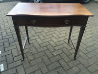 Hall Desk/Console with a drawer. L 36in D 19in H 30in. Free local delivery.