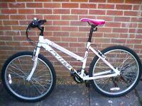 """Python Rock 18"""" Ladies Mountain Bicycle - White"""