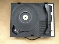 Vintage 1970s Fidelity portable record player, model H.F.42, mono, in working order