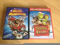 2 DVD's - Merry Madagascar & Shrek The Halls