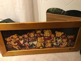*WOW* Large Teddy Bear Kids Picture & Ballerina Bear