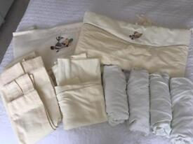 Cot bedding & curtains