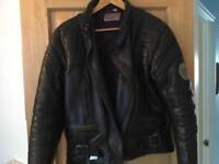 Genuine Scott leathers men's black retro bikers jacket. Size medium