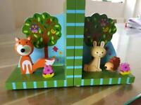 Orange tree children's bookends