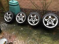 "Porsche Genuine Alloys 19"" Lobster Claws Staggered Rears 997 Carrera"