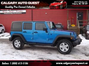 2015 Jeep WRANGLER UNLIMITED Sport 4X4 / MUST SEE / LOW KMS