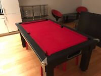 **FOR SALE** Slate bed Pool table / dining table and equipment