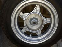 10 inch moped wheel and new tyre rear
