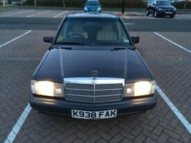 MERCEDES BENZ 190E 1992. FULL SERVICE HISTORY. 3 OWNERS. £1500 ONO