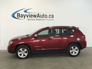 2015 Jeep COMPASS SPORT- 4WD! AUTO! ALLOYS! A/C! CRUISE!