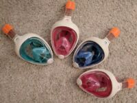 Snorkeling Masks - Easybreath - Set of 4 - Great condition