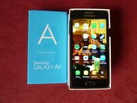 SAMSUNG GALAXY A3 16GB - UNLOCKED IN MIDNIGHT BLACK, WITH ORIGINAL BOX, IN EXCELLENT CONDITION