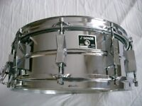 """Sonor Ferro manganese steel seamless snare drum 14 a 5 1/2"""" - Germany _ '75"""