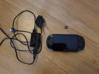 Playstation Vita with 16gb memory card and charging cable