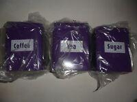 NEW (In original packaging) Purple Tea, Coffee & Sugar Tins/Canisters