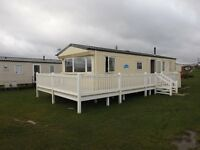 luxury static holiday caravan to rent on sandy bay.situated in beautiful northumberland