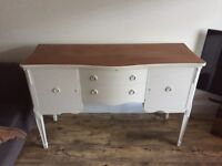 Shabby Chic Sideboard and Lamp Table £90 ono. Will separate.
