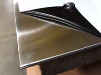 Stainless Steel Sheets A304 brushed, PVC protected only 4 Pound/Kg