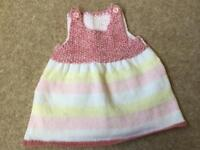 Brand new hand knitted baby's dress