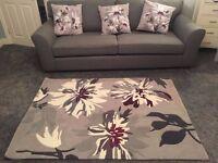 Next Rug & 3 x matching cushions
