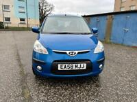 2008 58,Hyundai i10, Comfort 1.2, Blue, LOW MILEAGE, £30 ROAD TAX, Manual, Petrol