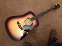 Fender Squier acoustic guitar. As new!
