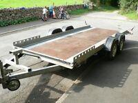 Car Transporter Trailer 2700 Kg! Flat Bad,2 Knott Axles!