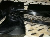 New & used bags, belt, footwear