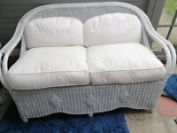 Wicker Sofa and Table Set - duck feather/down filled