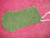 Golf Winter or Autumn Fairway Mat with Tee Holes and Cord