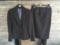 Ladies pin stripe skirt suit size 10