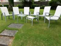 6 Garden Chair Set