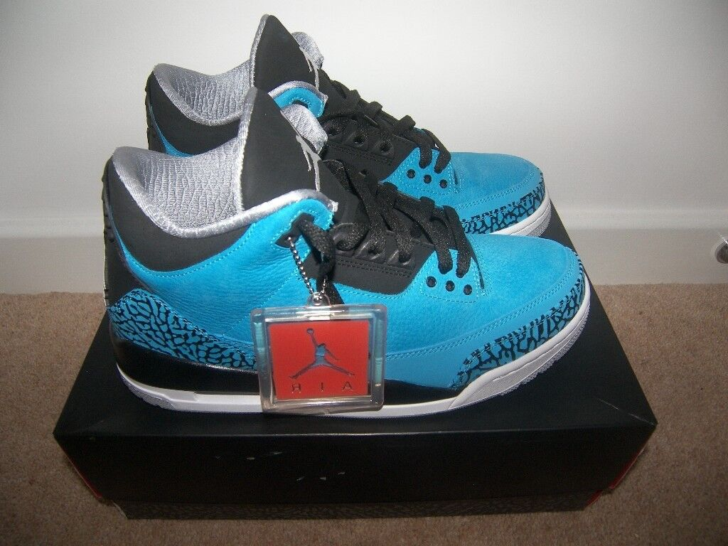 83e49e6ad Nike Air Jordan Retro 3 Powder Blue Shoes