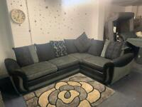 DFS Grey & Black corner sofa delivery 🚚 sofa suite couch furniture
