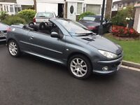 Peugeot 206 cc 1.6 sport convertible 2006 facelift model genuine 48000 miles