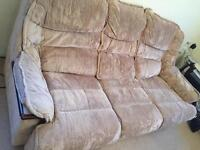 3 seater sofa + 1 armchair with washable covers