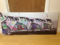 Beautiful Canvas of Camper vans, used for sale  Swansea