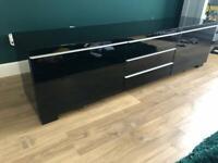 Modern Black Gloss large TV/Media Unit