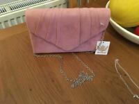 BRAND NEW w/tags pink clutch/small bag