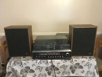 G.E.C. 2815 soundeck music centre turntable witk speakers