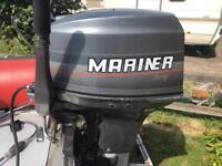 40hp mariner short shaft with remotes of tiller outboard