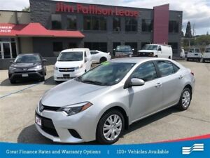 2014 Toyota Corolla LE w/rear cam, heated seats, bluetooth