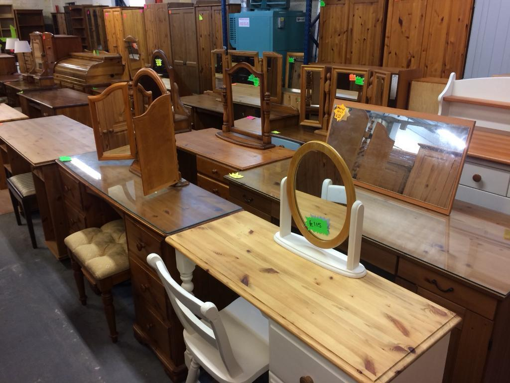 Quality used solid wood / pine dressing tables