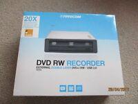 FREECOM External DVD RW Recorder (Silver)