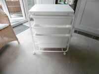 IKEA WhiteThree Tray Trolley