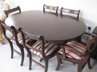 Oval Dining Table Mahogany with 6 chairs