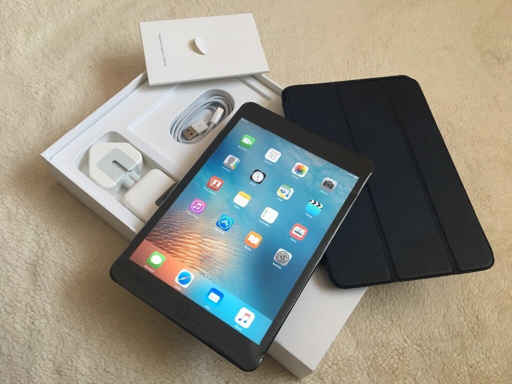 Apple iPad Mini 32GB Black wi fi4G Cellular unlocked sim free in box with accessories for salein Leicester, LeicestershireGumtree - Apple iPad Mini 32GB Black wi fi 4G Cellular unlocked sim free in box with accessories for sale iPad mini 32GB Storage in black colour comes in box with everything with it It takes sim card and its unlocked Its in good condtion and all in working...
