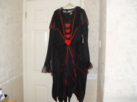 Ladies queen of hearts fancy dress costume,includes tiara and wand XL