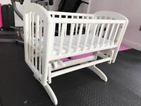 John Lewis baby crib rocking - includes mattress